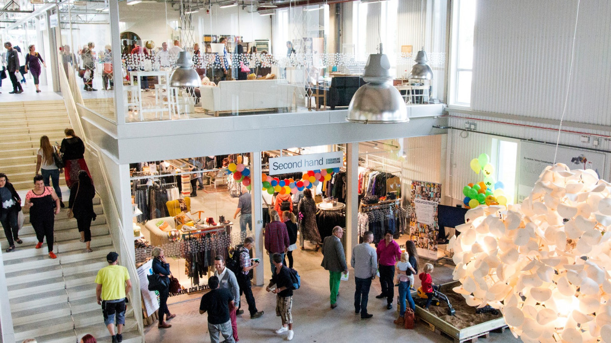 Everybody is buying it; Swedens shopping mall just for recycled products.